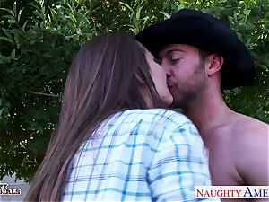 super-naughty cowgirl Dani Daniels porking a gigantic manhood