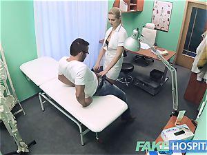 fake hospital Hired handyman jizzes all over nurses ass