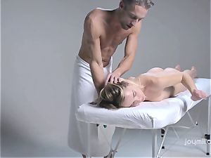 Deep glamour massage for the pallid sensitized Alecia