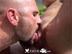 Exotic4k Outdoor pool plumb with hefty orb chinese Jade Kush
