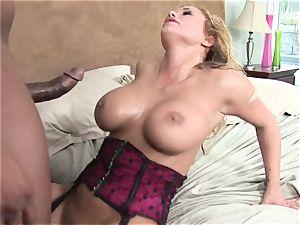 huge-boobed Shyla Stylez luvs taking enormous ebony dick
