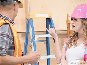Dolly Leigh ravaged on the job