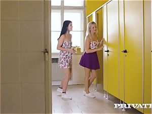 Private.com - lezzy 3 way in the restroom