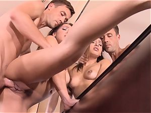Pint sized Sara Luvv porks her fathers buddy