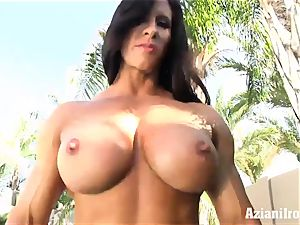 weird fit Angel displays us her immense snatch and pearl