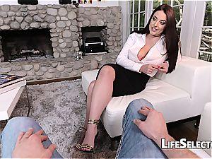huge-boobed milf Angela white likes foot fetish