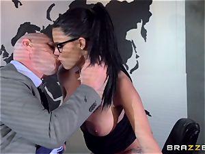 big titted Peta Jensen fucked via the boardroom table