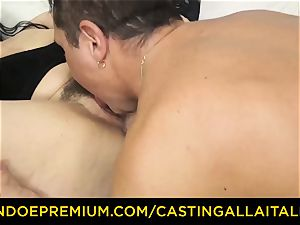 casting ALLA ITALIANA brown-haired nymphomaniac rough anal bang-out