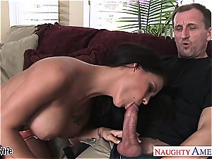 huge-chested wife Peta Jensen take man rod