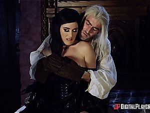 Danny D fools around as Geralt and penetrates black-haired stunner