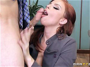 sandy-haired chief Britney Amber fucks a insatiable worker