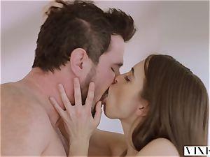 VIXEN Riley Reid has powerful 3some with Ana Foxxx and beau
