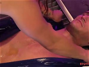beautiful mistress With massive knockers drills Her sub firm