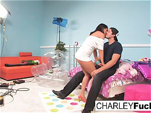 Charley haunt has some fun in this mischievous 3some