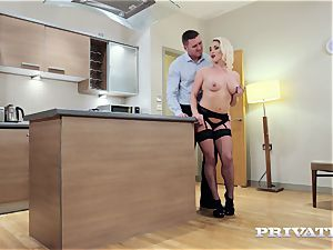 Private.com busty Victoria Summers penetrates in stocking