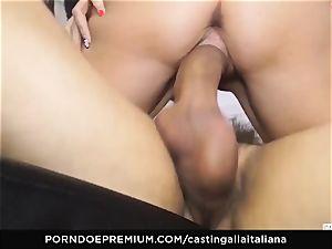 casting ALLA ITALIANA - new-cummer anal gape and bang