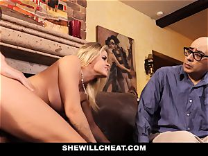 cheating hubby watches Wifes vulva Get ruined
