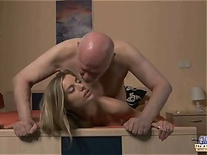 youthfull assistant penetrates elder stud chief screws luxurious dame