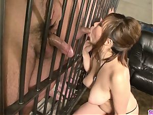 chinese porn in jail along immense bra-stuffers Neiro Suzuka