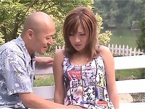 Premium outdoor Japan nail with big-titted Aika