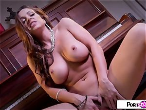 Abigail Mac display you how much she enjoys to jism for you
