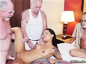 Taking father and old stud force Staycation with a mexican sweetie