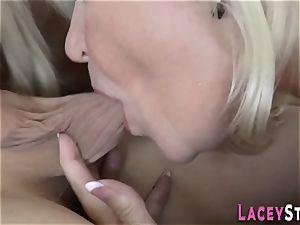 grandma torn up in threesome