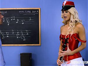 crazy little Elsa Jean covets her educators meatpipe
