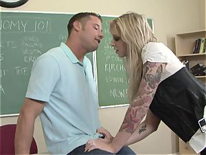 massive jugged Brooke Brand gobbles her man's cumbot