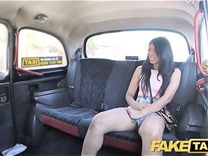 faux taxi sumptuous Thai damsel with pierced labia lips