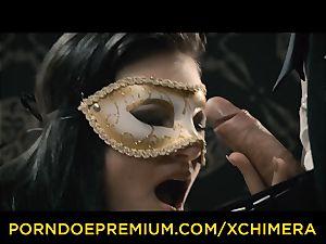 XCHIMERA - Office babe experiences voluptuous dream penetrate