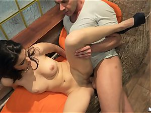 Suzy Bell and Niky Gold poolside four-way