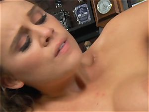 Alexis Adams pounds the boss in the bar