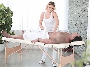 Anna Polina takes on hung big black cock deep in her hot vagina