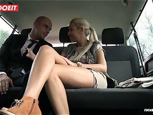 boinked In Traffic - warm Czech blond bangs in the car
