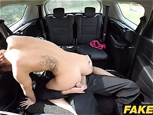 fake Cop Cop finishes off twice for sexy ginger-haired