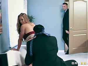 Office hoe Nicole gets her greedy fuck hole double drilled