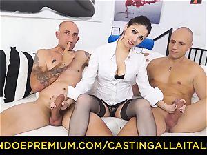 casting ALLA ITALIANA - super-steamy milf has dual rectal fun