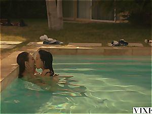Riley Reid and Megan Rain three-way on a sizzling summer day