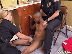black milf taking the meatpipe black male squatting in home gets our cougar officers squatting