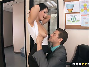 big-chested secretary Noelle Easton gets the bosses large dick