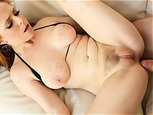 ginger-haired Penny Pax smashes with her wooly labia