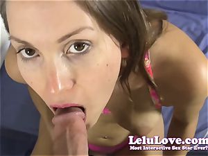She deep-throats your rod then fucks you until you jism in her