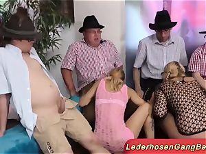 impressive German lederhosen party hookup