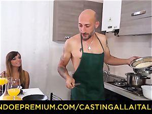 casting ALLA ITALIANA - hot Italian minx gets deep ass fucking