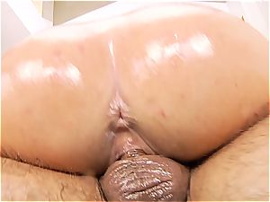 slip and glide into Victoria June's well-lubed snatch