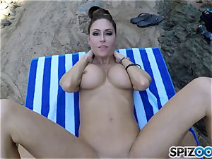 Beach arse Jessica Jaymes plowed deep in her beautiful clittie pussy