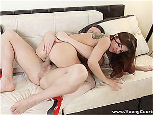 Pierced hotty enjoys raw anal invasion