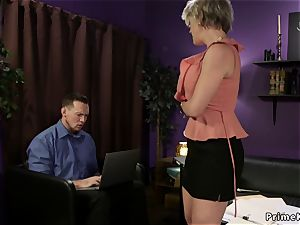 big-titted wifey has threeway at home