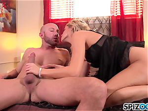 Spizoo - fantastic Jessa Rhodes is torn up by a immense pink cigar